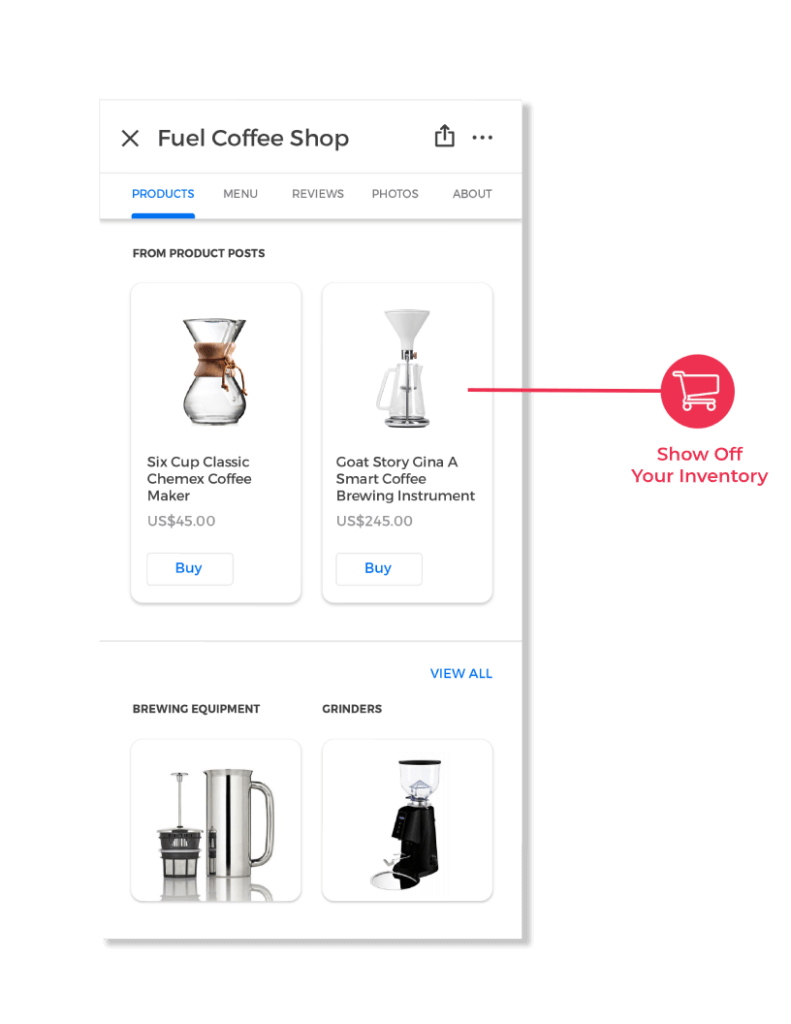 Feature Products GOOGLE MY BUSINESS