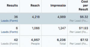campaign performance lead generation - Third Month