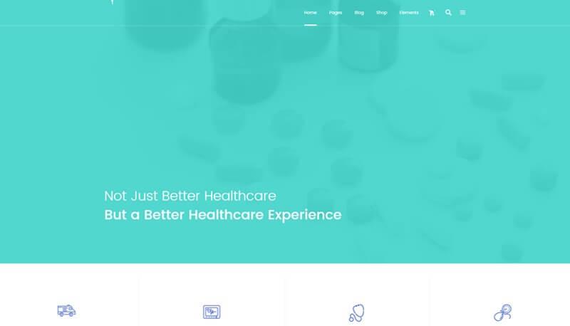 Health Center Home website design