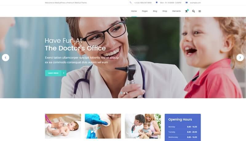 Pediatrician website design