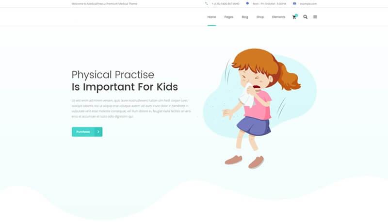 Website design of Children's Health Center