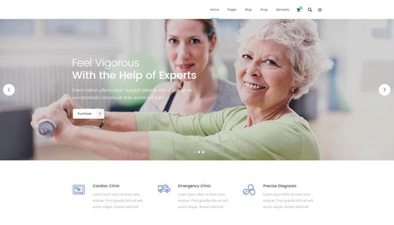 Geriatrician website design
