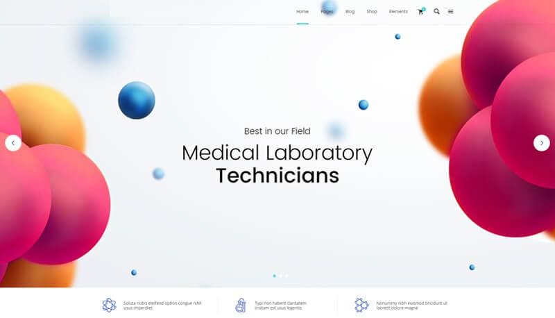 Medical Laboratory website design