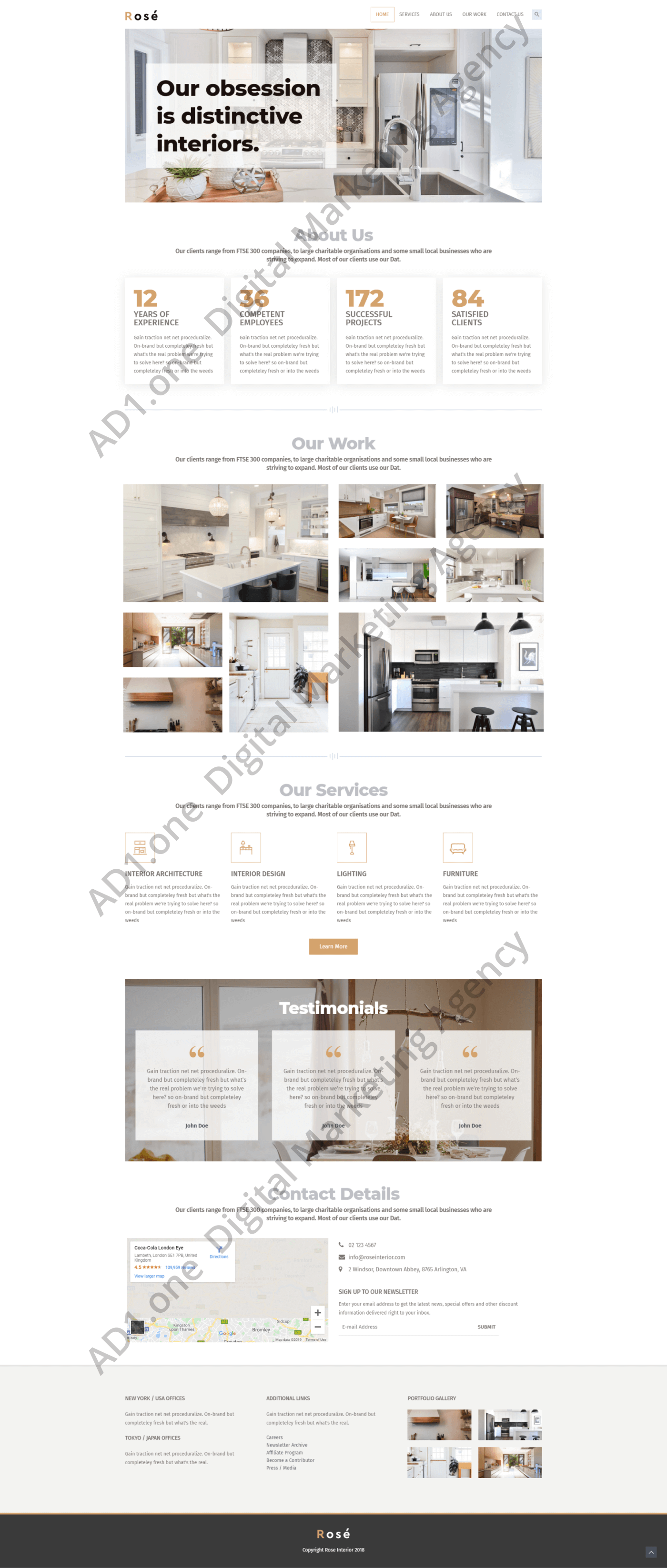 Architect- ad1 agency website desing project