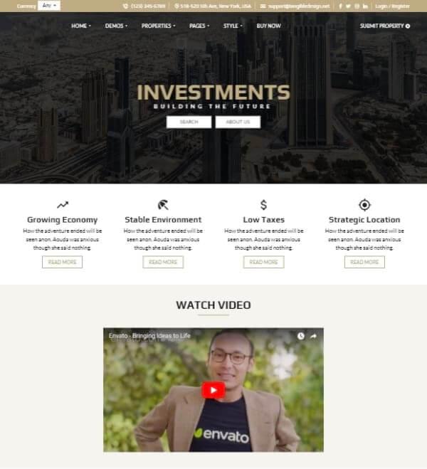 Real Estate investments Web Design - Web desinge Company in UK